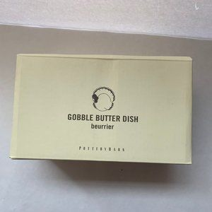 Pottery Barn Gobble Butter Dish New
